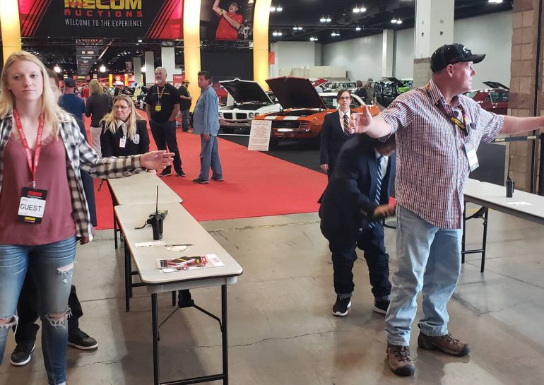 Global Agents providing Entry Check at MECUM 2018 Denver | Global Security Solutions